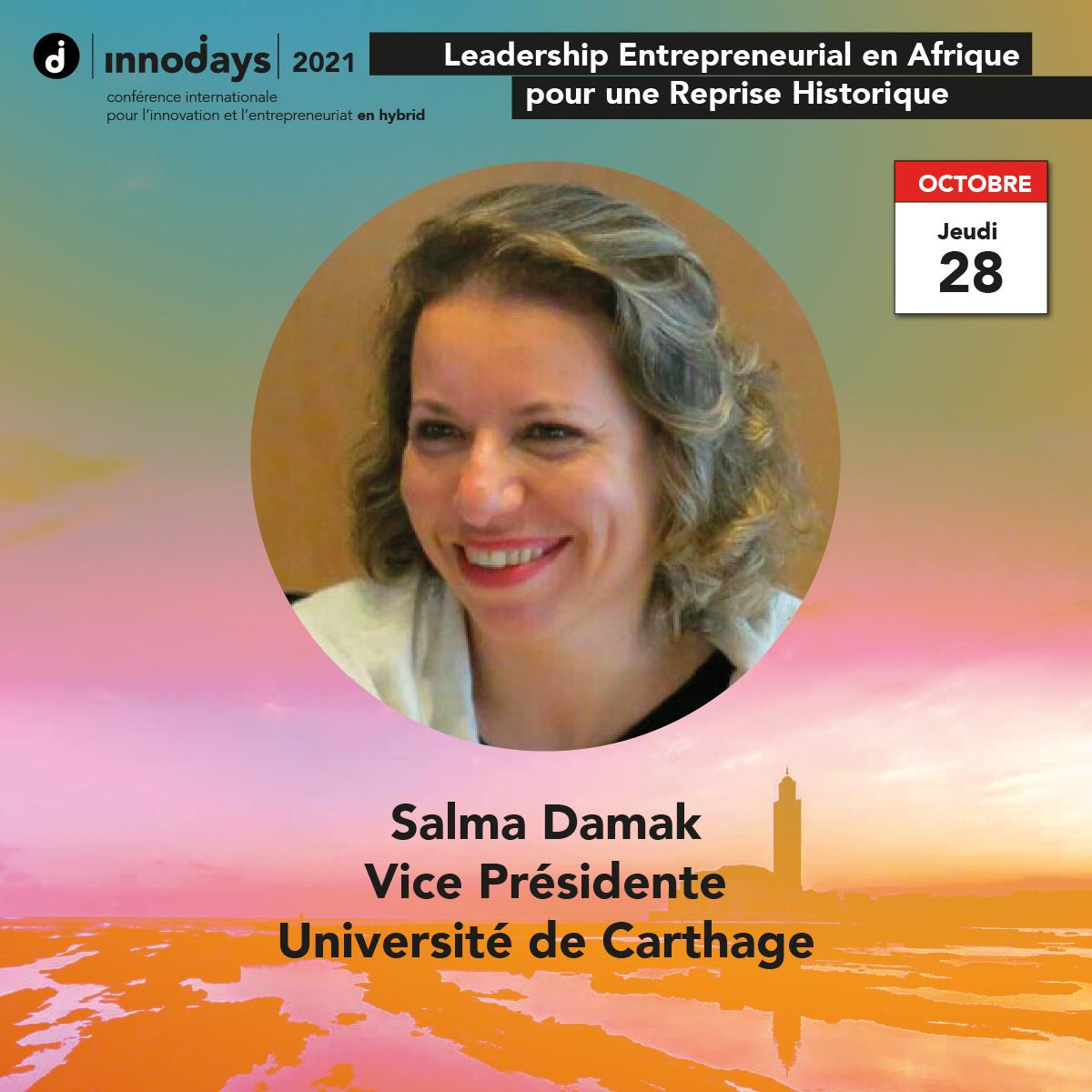Salma Damak - Vice Présidente de l'Université de Carthage - Tunisie