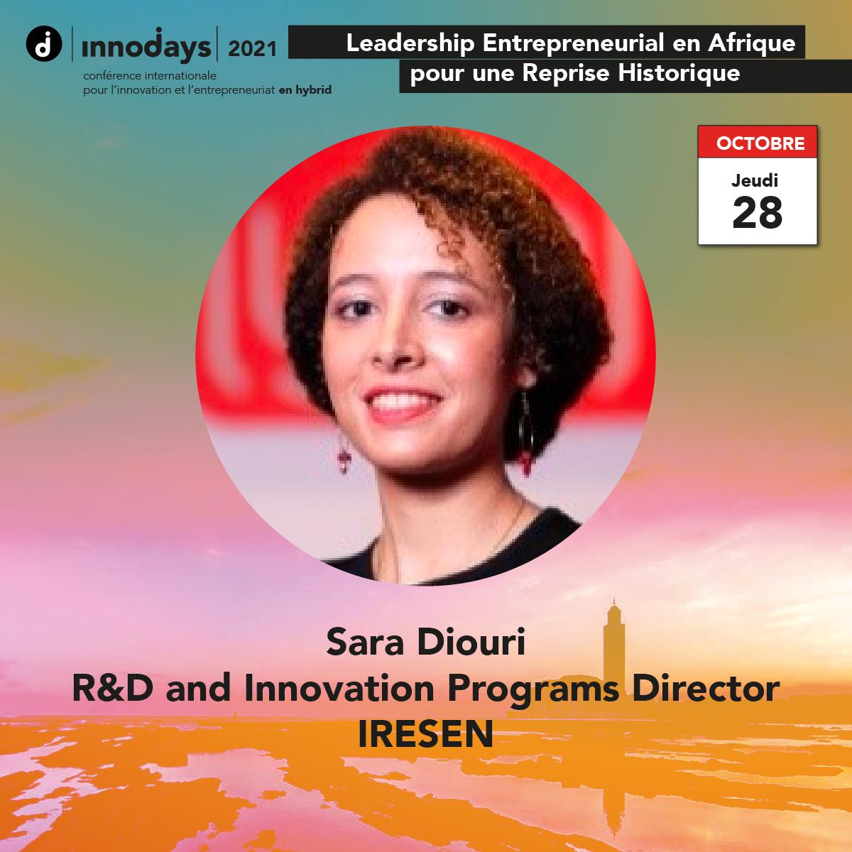 Sara Diouri - Directrice R&D et Innovation - IRESEN