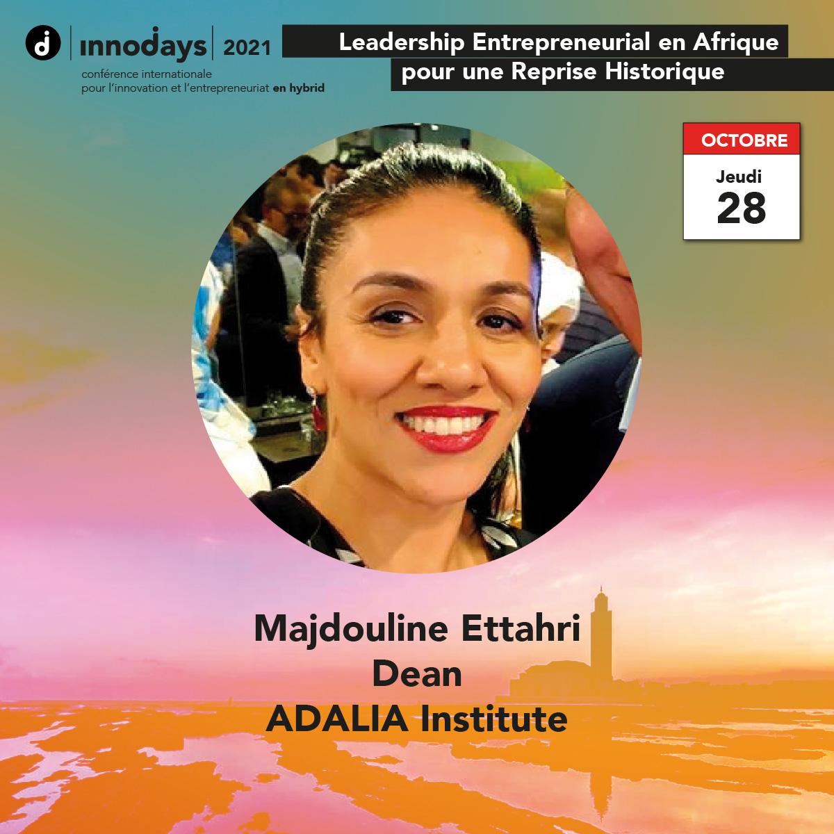 Majdouline Ettahri - Dean - ADALIA Institute
