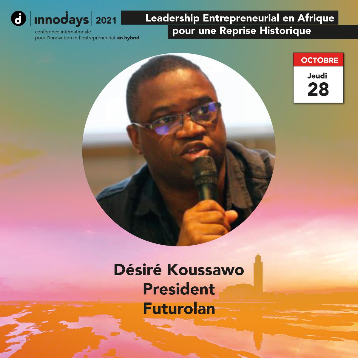 Désiré Koussawo - Président - Futurolan